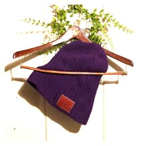 Love Your Melon - Large purple beanie ❄️ knit hat